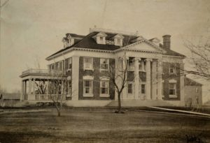 The Anderson mansion shortly after completion. Whitman Archives photo.