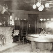 The elliptical dining room. Whitman Archives photo.