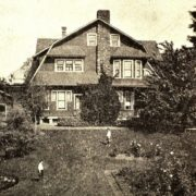 Warren and Hester Langdon's residence at 949 Isaacs Avenue, ca. 1910. Note the two Langdon boys in the garden between their house and that of their grandparents. Photo Up-To-The-Times, March 1915.