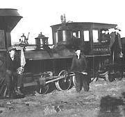 The Blue Mountain narrow gauge engine ran on this track in 1881