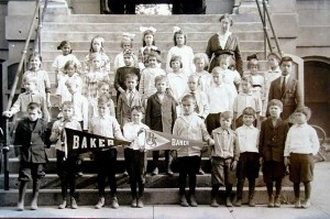 Baker School students, circa 1910
