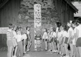 Camp Fire girls at Camp Kiwanis, July 23 1957. File photo courtesy of the Walla Walla Union-Bulletin.