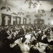 The Lodge Room - this photograph was doubtless taken at the dedication banquet on May 24, 1913. Courtesy Joe Drazan.