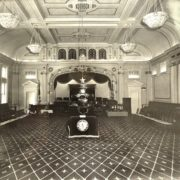 The two-story Lodge Room in a late photo. Courtesy Elks' Lodge 287.