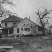 The Poor Farm house and related buildings (rear). Photo courtesy of Dell & Lenore Wagner