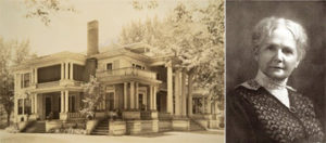 The Rees mansion in the 1970s, Whitman Archives coll.; Augusta Rees, from Lyman's History of Old Walla Walla County, Vol. 2