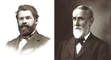 Raymond Rees (left) and William Wynans, from Lyman's History of Old Walla Walla County.