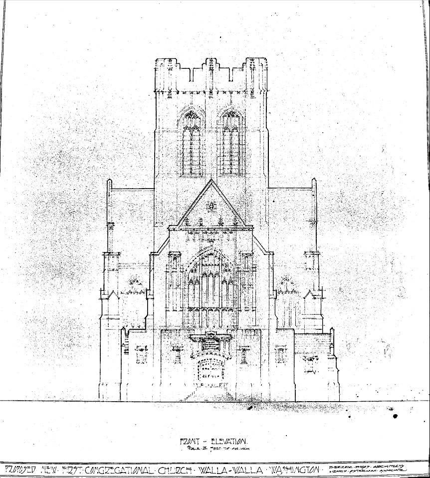 The Unrealized Gothic Church Planned For Walla